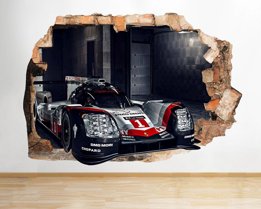 D486 voiture de course garçons vitesse ref Autocollant Chambre 3D Vinyle enfants