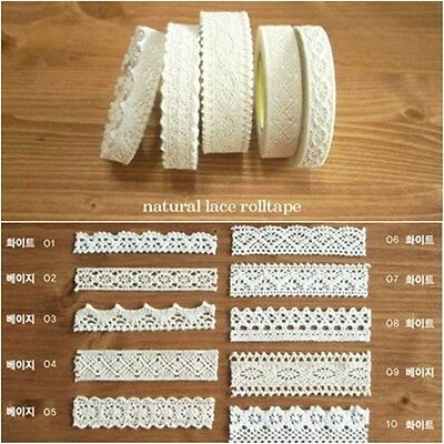 Himori Adhesive Decoration Reform Tape 2.7M Roll Sticker_Natural Lace Roll Tape