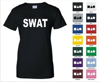 Swat S.w.a.t Team Special Weapons And Tactics U.s. Police Funny Woman's T-shirt