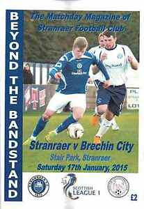 Stranraer v Brechin City 170115  Team Sheet - <span itemprop=availableAtOrFrom>Glasgow, Glasgow (City of), United Kingdom</span> - Stranraer v Brechin City 170115  Team Sheet - Glasgow, Glasgow (City of), United Kingdom