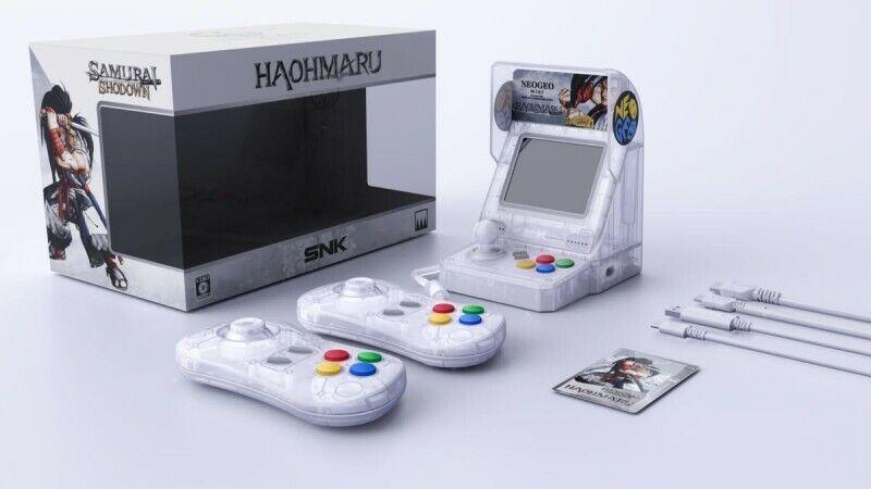 videogiochi e console: Console NeoGeo mini Samurai Shodown Limited Edition – Haohmaru (blanc)