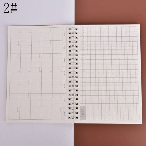 Monthly Kraft Notebook Diary Planner Diary Journal Stationery School SupplyLD