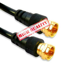 10M F Plug Male Satellite Coax Cable Lead For Sky Virgin Cable TV BLACK