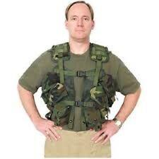 Gen II Woodland LBV Tactical Vest Enhanced Rig Army Surplus LBE Nylon Grade Good