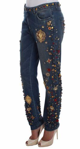 Rose Cristallo Jeans Nuova Etichetta us14 Con Dolce Cuore Gabbana Ragazzo It48 wnZxXYqO