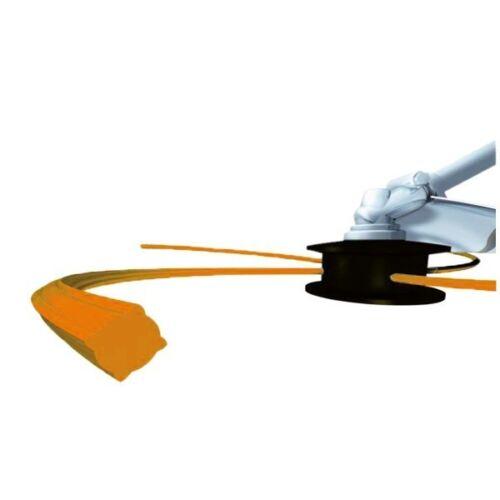 Fil débroussailleuse nylon carré 2,4 mm x 136 m Bobine Orange