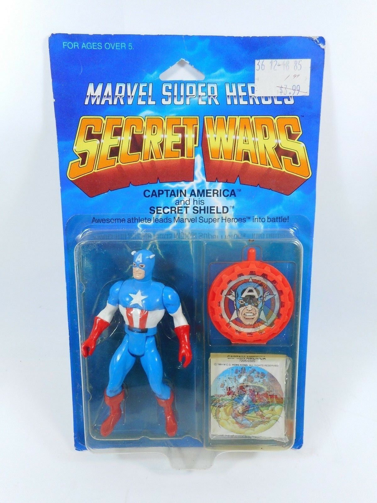 MARVEL SUPER HEROES SECRET WARS CAPTAIN AMERICA FIGURE SEALED MOC MATTEL 1984