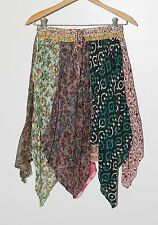 Small Layered Indian Cotton Gauze Boho Hippie Skirt