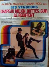 AVENGERS French Grande movie poster A 47x63 DIANA RIGG CHAPEAU MELON & BOTTES
