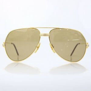 baae33d54b3 Image is loading Vintage-Cartier-Sunglasses-Lunettes-Cartier-59-14-135-
