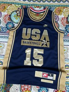 uk availability f6eec eed24 Details about Nike 1992 Magic Johnson USA Dream Team Olympics Gold  Basketball Jersey S Small