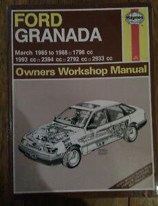 Ford-Granada-Haynes-Manual-inc-Scorpio-1985-to-1988