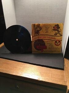 Disney Mickey Mouse Club Newsreel Mattel record Two Gun Mickey & Don Donald