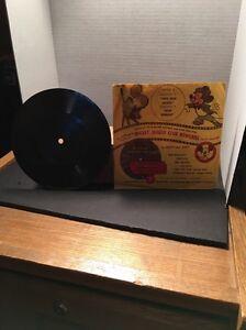 Disney Mickey Mouse Club Newsreel Mattel record Two Gun Mickey & Don Donald