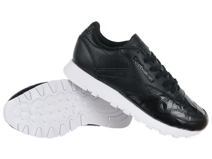 Reebok Classic Leather Hype Metallic Damen Sport Sneaker schwarz Schuhe