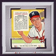 1954 Red Man JOHNNY LOGAN #20 GOOD  *awesome baseball card for your set* M90C