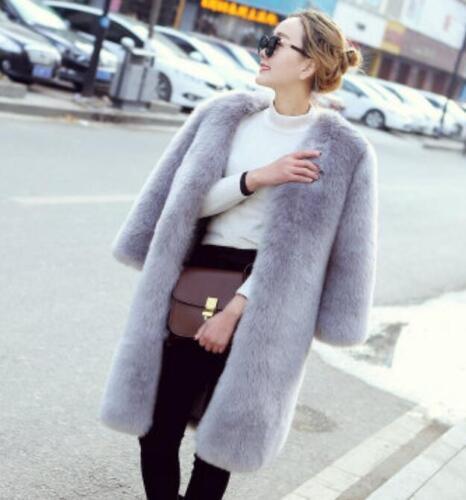 Coat Slim Parka Casual Fur Overcoat Lang Outwear Trench Kvinders Warm Tykkelse wUz8Xxx