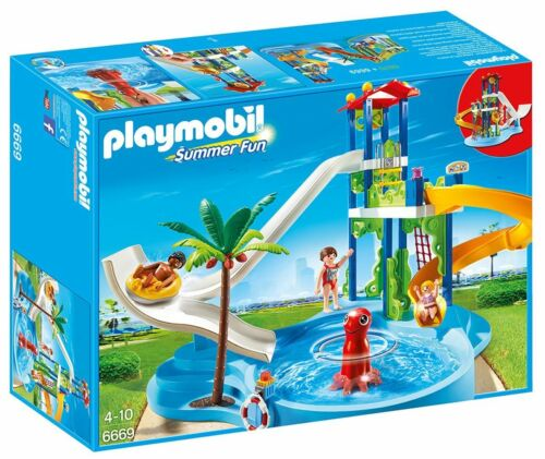 Playmobil 6669 Summer Fun Parc aquatique avec diapositives