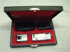 Vintage Minolta-16 MG Compact Camera w/Case/Flash Miniature Spy Clean