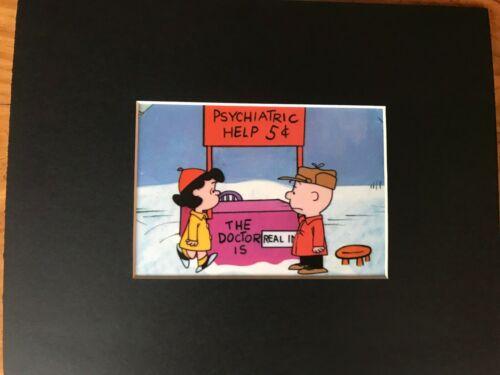 LUCY VAN PELT~CHARLIE BROWN~PSYCHIATRIC HELP~5 CENTS~8 x 10 Mat Print~REAL DOC