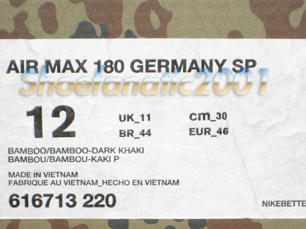 Nike Nike Nike Air Max 90 Germany SP Country Camo Pack 9.5 12 Retro HTM Bamboo Dark Khaki 191400