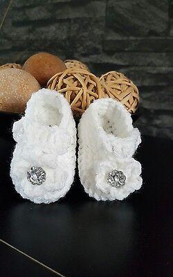 Hand MADE Crochet Botitas para Bebé Niña Recién Nacido/Bebé Reborn