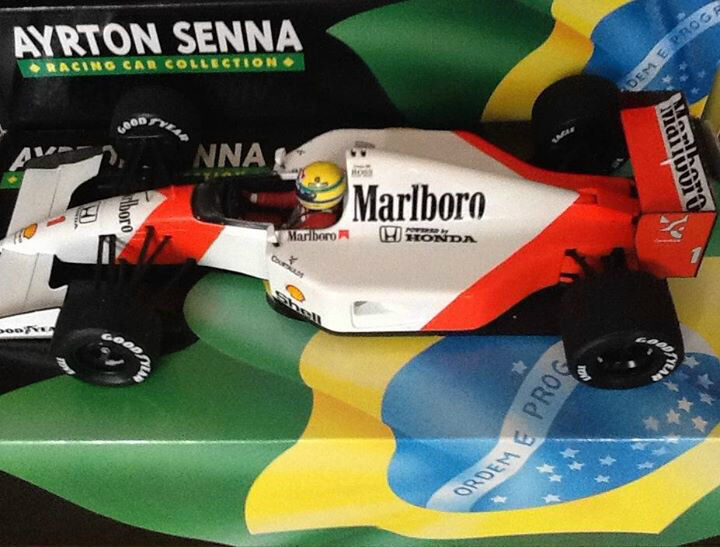 Ayrton Senna Minichamps Mp4 7 Marlbgold McLaren