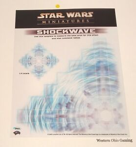 Details about Star Wars Miniatures Shockwave Overlay Template NEW DCI Promo