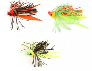 Fox Rage Fish Head Skirted Jigs Jigköpfe Fransen Köder Gummiköder für Raubfisch