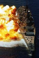 """New 5x7 Photo: """"The Big Stick"""" USS IOWA (BB-61), Lead Battleship of Class"""
