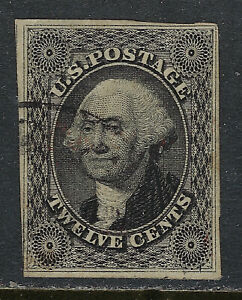 SCOTT-17-1851-12-CENT-WASHINGTON-REGULAR-ISSUE-TYPE-I-USED-VF-CAT-250