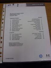 28/03/2014 Tottenham Hotspur U21 V Arsenale U21 (singolo foglio). grazie per viewi