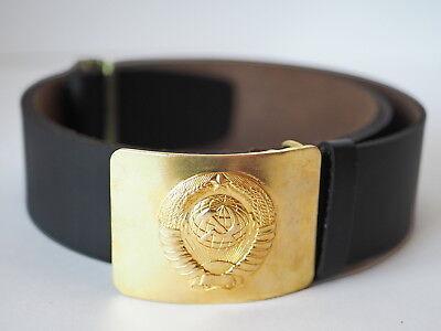 VDV Original Russian Soldier Leather Black Belt Soldier w// Badge Airborne #2