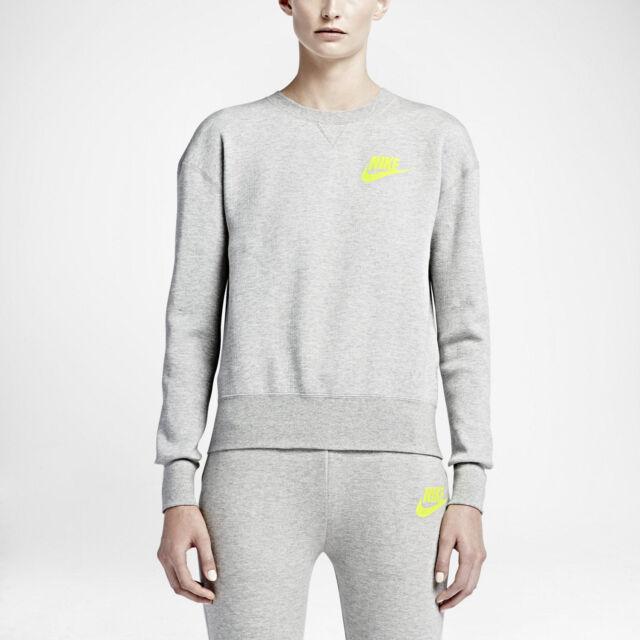 Nike Nikelab Women's Sacai Tech Fleece Sweatshirt Crew (744608 063) GREYWHITE