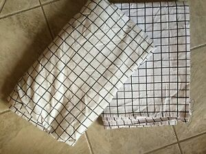 Jcp Home Xl Twin Sheet Set White With Gray Checkered Sheets Bx34 Ebay
