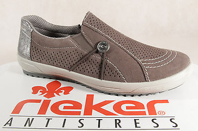Court Shoes Grey New Rieker Ladies Lace-Up Shoes Slippers Casual Shoes