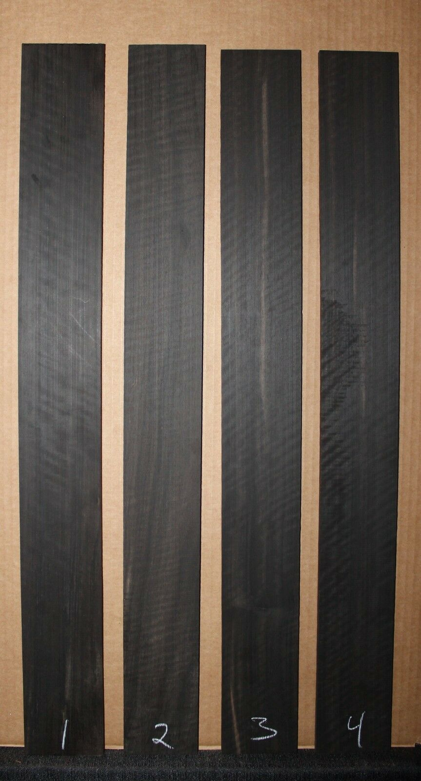Ebony, Gabon, curly w/ a bit of color, bass fingerboard blank. Sold individually