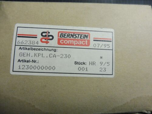 CA-230; 1230000000 1 x Bernstein Compact Gehäuse KPL