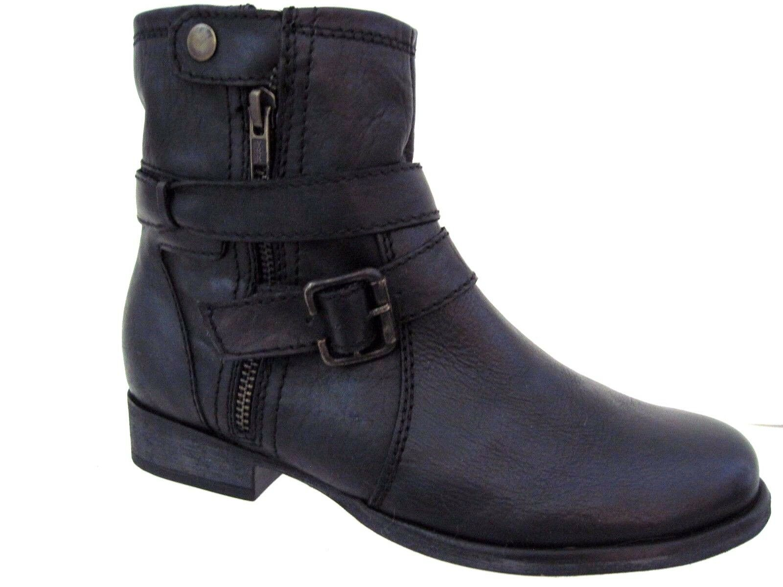 ZIGI GIRL Black Leather SUZETTE Urban Boots Size 6 M