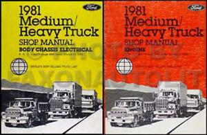 1981 ford big truck shop manual set f600 f700 f800 f900 c600 c900 rh ebay com Ford L8000 Paint Ford L8000 Parts Catalog