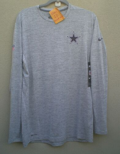 Dallas Cowboys Men/'s Nike Dri Fit Gray DF Touch Long Sleeve Shirt $50 SZ L
