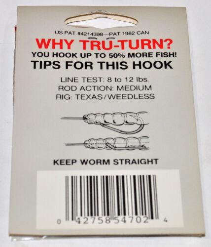 Tru Turn Fish Hooks Multiple Variations