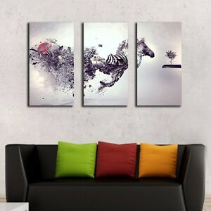 Set-Of-3-Abstract-Zebra-Stretched-Canvas-Prints-Framed-Wall-Art-Home-Decor-DIY
