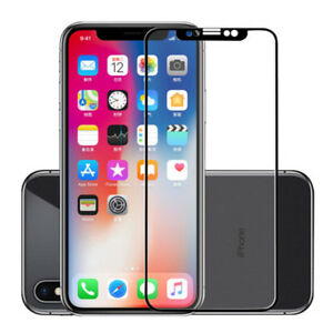 reputable site 58929 d3e8a Details about For Apple iPhone Xs Max XR 2018 Tempered Glass Screen  Protector Full Protection
