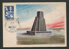 France MK 1967 Bir-Hakeim monumento Monumento Military MAXIMUM CARD MC cm d4548