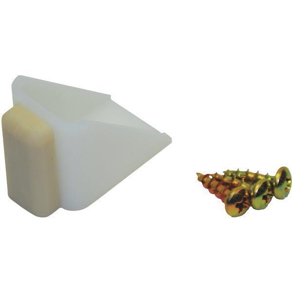 10-Johnson Hardware Nylon Base Rubber Stopper BiPass Closet Door Stop 2155PPK1