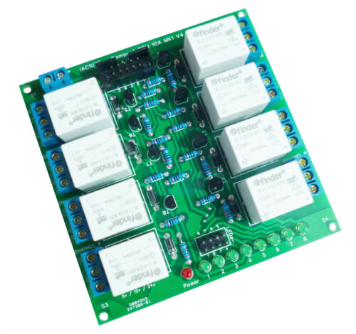 IACS 8 Channel 10A Premium Relay Board 10 Amp 250V SPDT AVR PIC TTL ARM 8CH