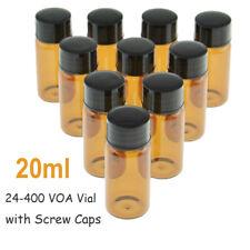 Lab 20ml Amber Sample Vialscrew Caps 24 400 Thread Top Glass Bottle 1000pcs