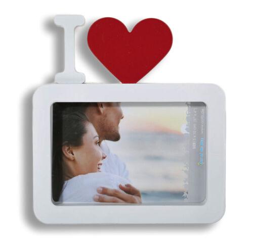 Cadre photo cadre photo blanc avec rouge coeur I LOVE...
