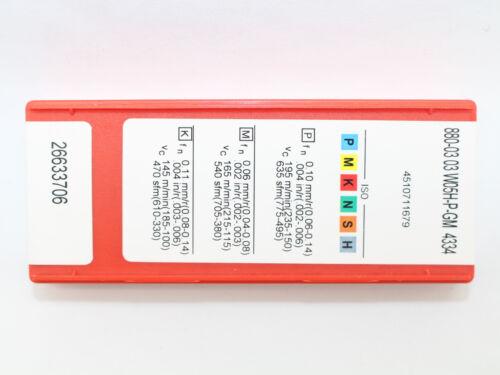 Sandvik 10Pcs 880-0303W05H-P-GM 4334 CNC Carbide Insert For U drill